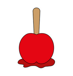 delicious candy apple icon imag vector image