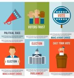 Election poster set vector