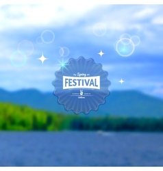 Festival summer realistic badge EPS10 vector image