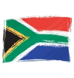 grunge South Africa flag vector image