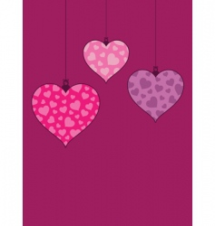 heart decorations vector image