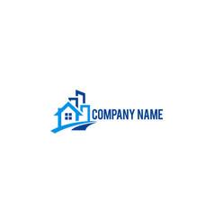 house building company logo vector image vector image