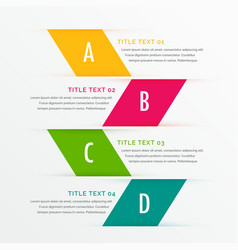 Infographic business steps with space for your vector