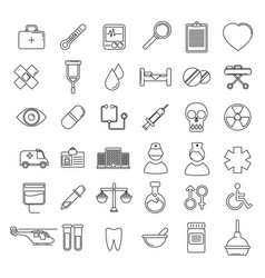 Medical icons set line vector