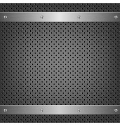 Metal Background With Aluminum Plate vector image
