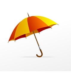 red and yellow umbrella isolated vector image