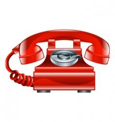 retro phone icon vector image
