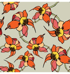 Seamless pattern with flowers vector image vector image