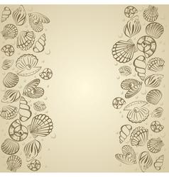 Seashell card vector image vector image