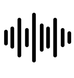 Sound icon on white background sound sign vector
