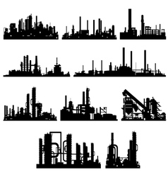 The contours of industrial buildings and vector image vector image