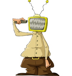 tv head vector image vector image