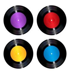 Vinyl records set vector