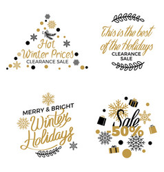 winter holidays discounts concepts set vector image vector image