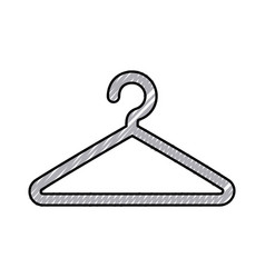 Wire clothespin isolated icon vector
