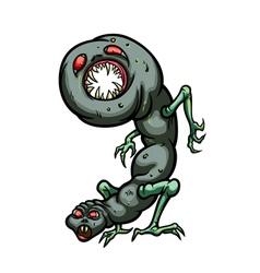 Number nine monster vector