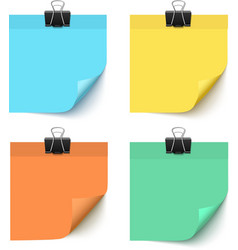 Set of post it notes isolated on white background vector