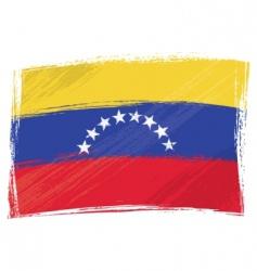 Grunge venezuela flag vector