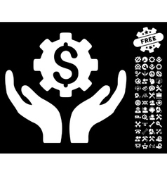 Maintenance price icon with tools bonus vector