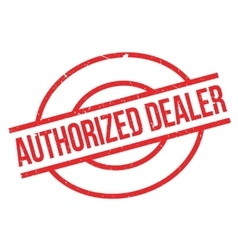 Authorized dealer rubber stamp vector