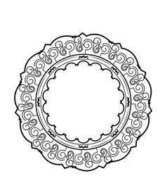Elegant victorian frame icon vector
