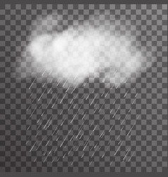 realistic cloud smoke fog transparent background vector image