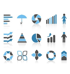 Infographic element icons set vector