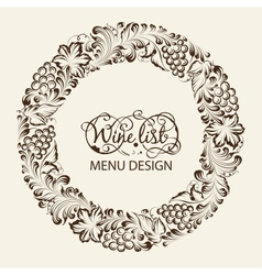 Menu design wine list vector