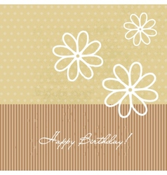 Congratulation birthday card with flowers vector image