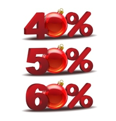 Percent discount icon vector