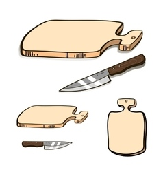 Boardandknife vector