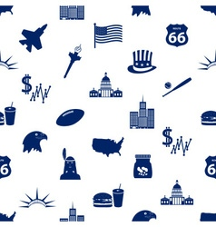 United states of america country theme icons vector