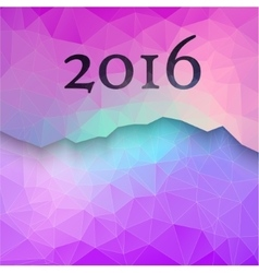 New year greeting card made in polygonal style vector