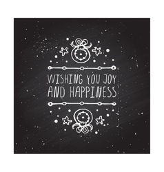 Wishing you joy and happiness - typographic vector