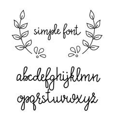 Simple handwritten cursive font vector