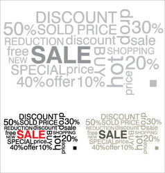 Sale word collage background vector
