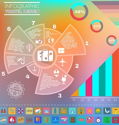 Colorful infographics diagram summer design vector