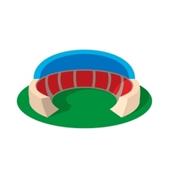 Sports stadium with canopy cartoon icon vector