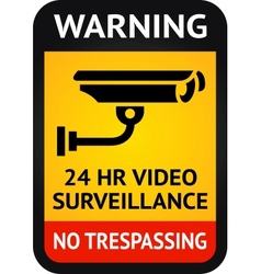 Video surveillance symbol vector image