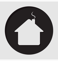 Information icon - home with chimney vector