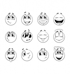 smiles vector image