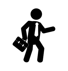 Businesspeople design person icon Flat and vector image