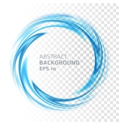 Abstract blue swirl circle on transparent vector image vector image