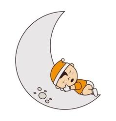 baby sleep cute small design vector image vector image