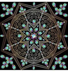 background with circular ornaments of precious sto vector image vector image