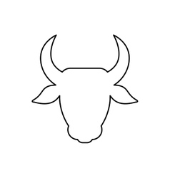 Beef meal silhouette vector