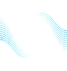Blue abstract wavy background vector image