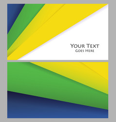 Brochures templates vector
