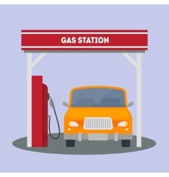 Car at a Gas Station vector image vector image