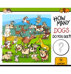 Counting game with spotted dogs vector